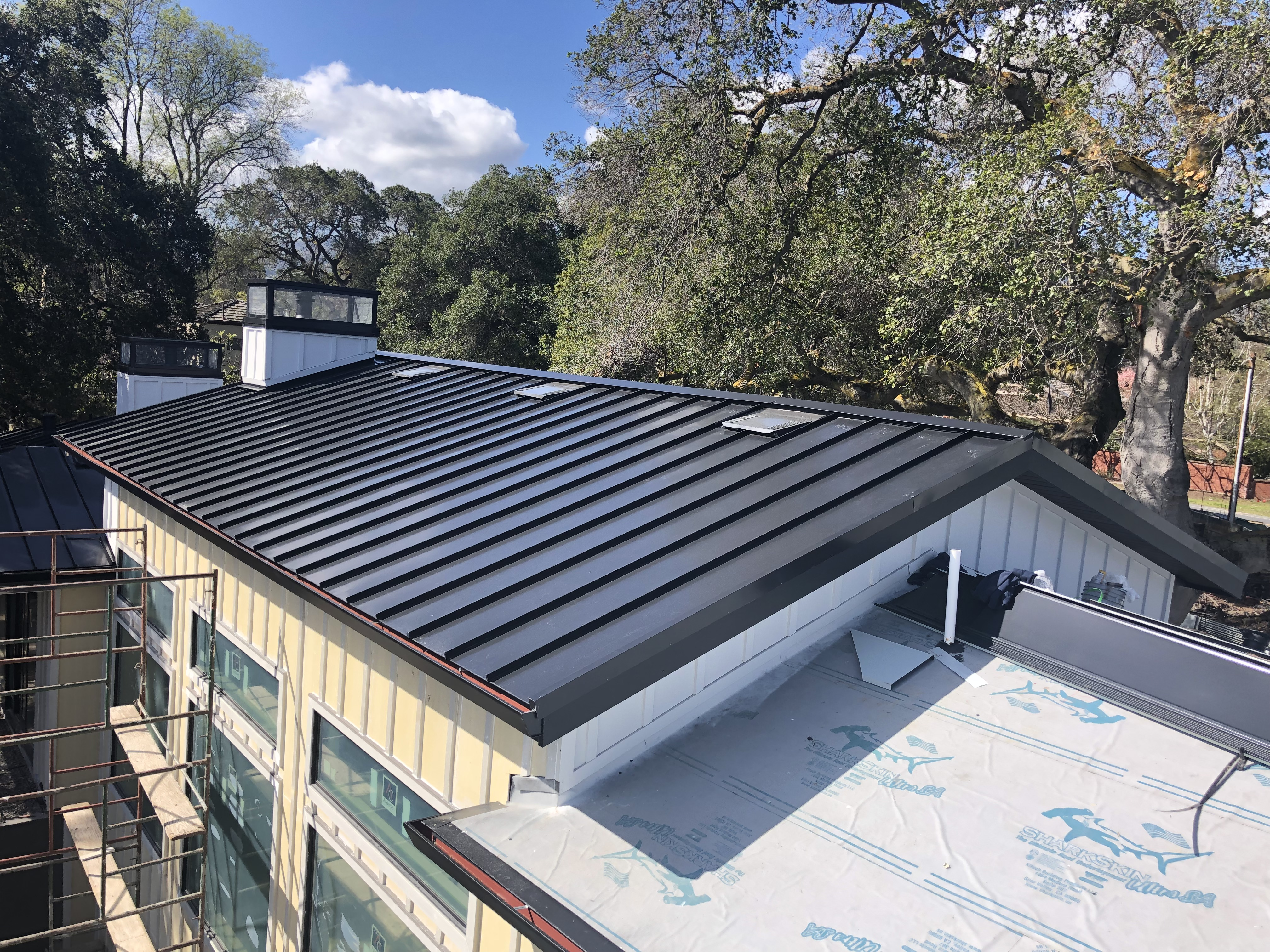 Metal roof installed on commercial property near Campbell, CA