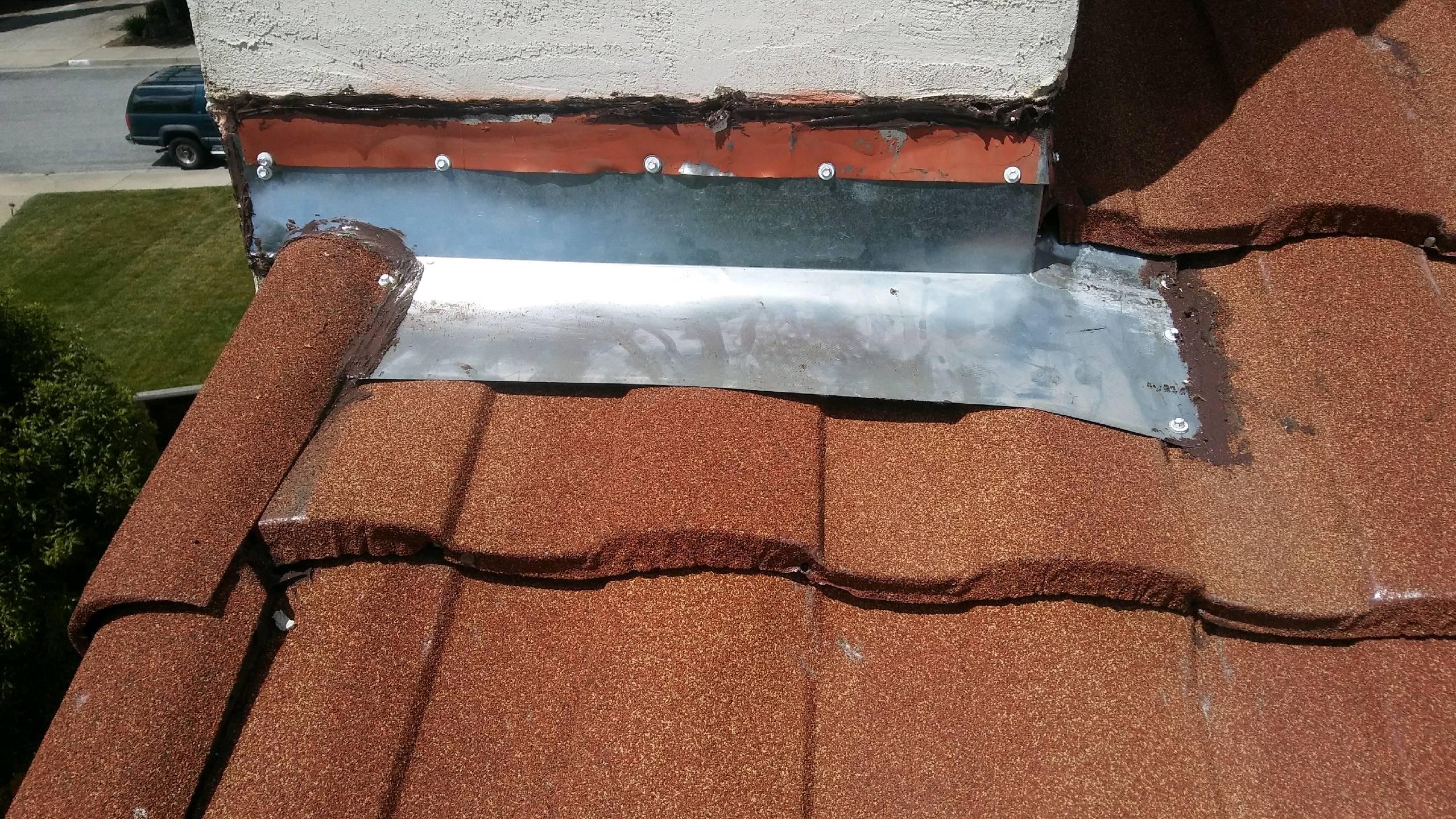 Ruined roof flashing