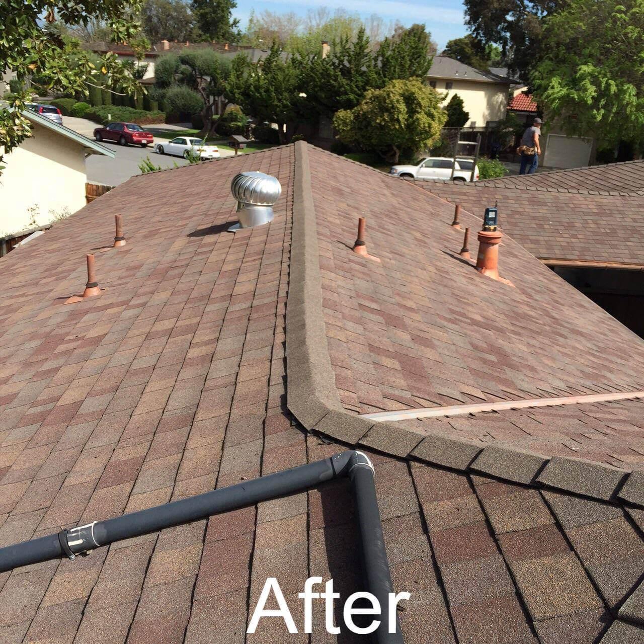 After roof repair in San Jose