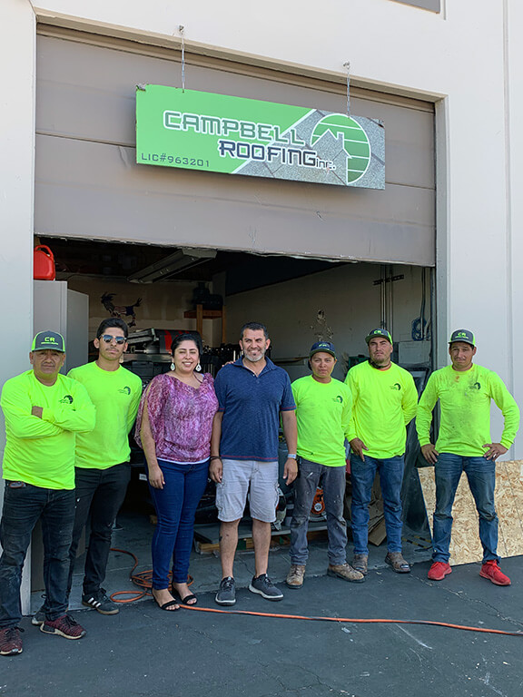 The Campbell Roofing family