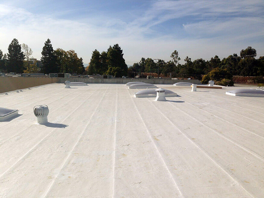 TPO commercial roof installation in Campbell, California
