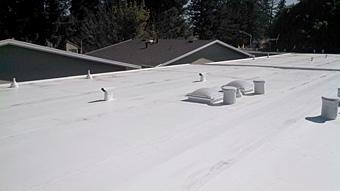 a recently repaired roof done by our San Jose commercial roofing professionals
