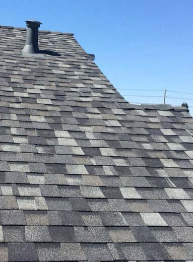 a roof repaired by our pros