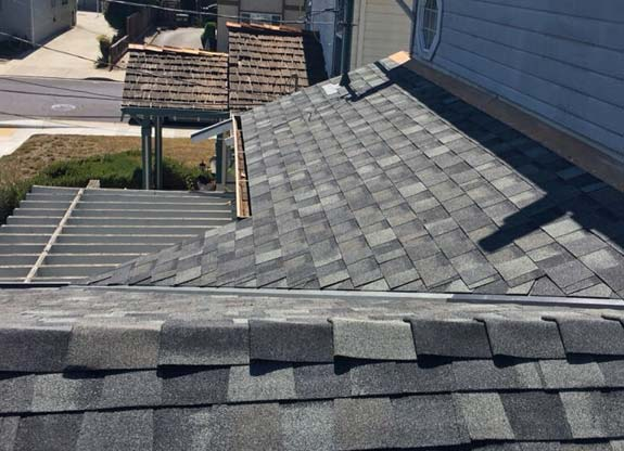a roof replacement done by our professional team