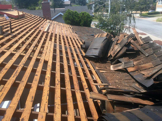 Roof tear off in Campbell, California
