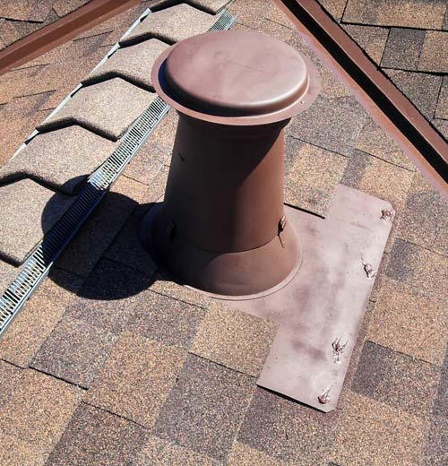 roof repair on a leaky vent