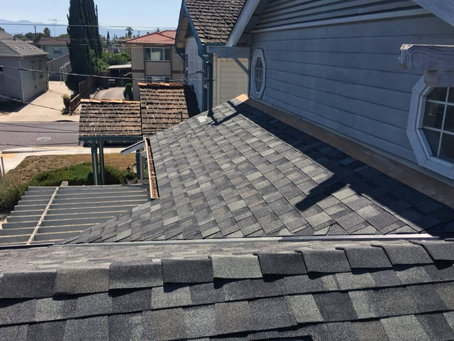 Slate grey roof installation in San Jose
