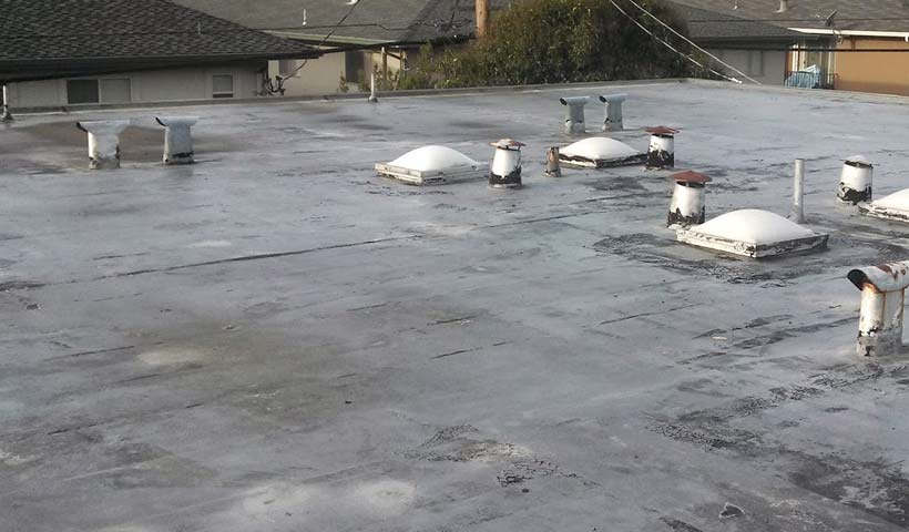 tpo flat roofing system installed 10 years ago