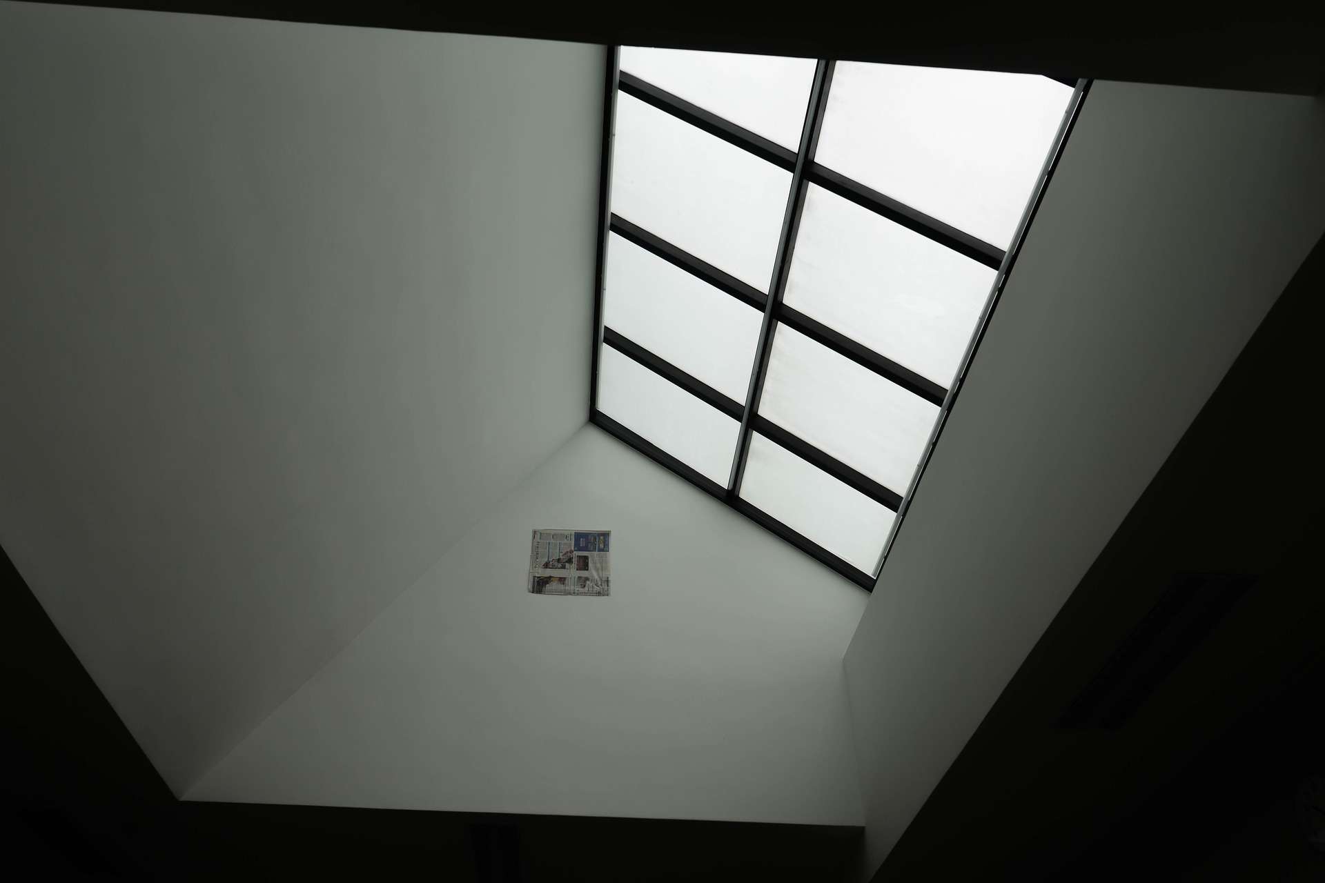 skylight in a residential home with natural light