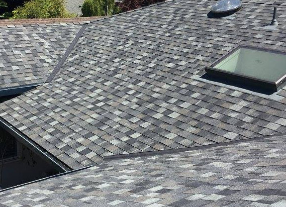 our professional team finished installing a new roof