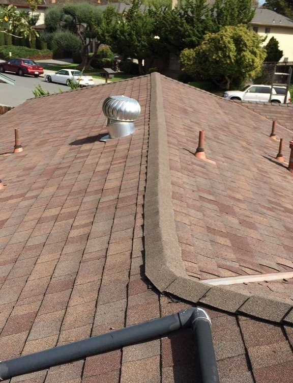 our team finished working on a roof leak repair