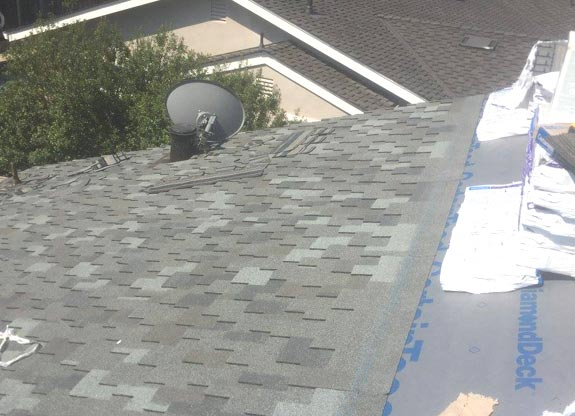 a complete roof repair done by our team