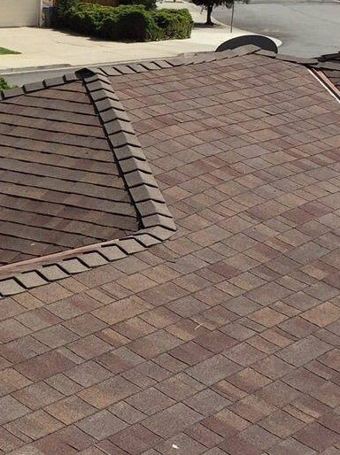 one of our roofers in Saratoga finished adding the final touches on this roof